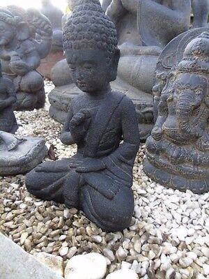 bouddha,assis statue en pierre patinée, nouveau ,bouddha tête en pointe ... 2