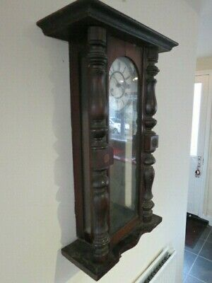 Antique German Striking Regulator Wall Clock For Restoration 5