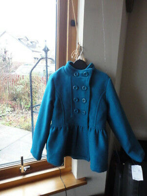 Stunning Teal Double Breasted Jacket from ONME, Size 7-8yo,New with tags 5