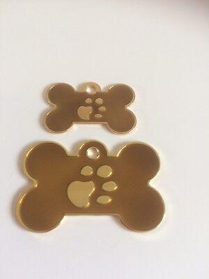 Elegance Paw Print Engraved Cat/Dog/Pet ID NAME tags BONE/DISC Variations.... 5