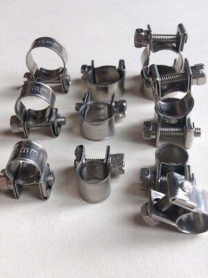 Stainless Steel Jubilee Hose Clip Mini Fuel Line Clamp Diesel Petrol Pipe Clamps 4