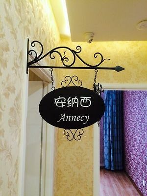RUSTIC CLASSIC DECOR Crafted Wrought Iron shop Signs Wall Bracket ...