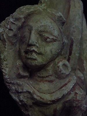 Ancient Large Size Polychrome Stucco Hanging Figure Gandhara/Gandharan 100 AD 4
