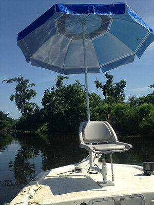 Apex Predator employs umbrellas to stay cool and dry while ...   Bass Boat Umbrella