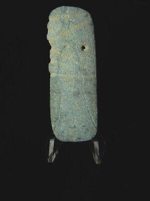 Pre-Columbian Jade Avian Pendant, Central America, Authentic 2