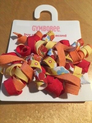 Gymboree hair accessory curlies curly clips Harvest Leaves Girl Detective NWT