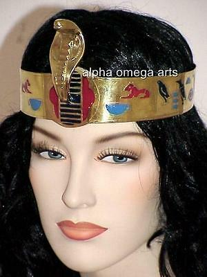 Hand Carved Egyptian Cleopatra Snake Cobra Serpent Crown Adjustable Headband 2