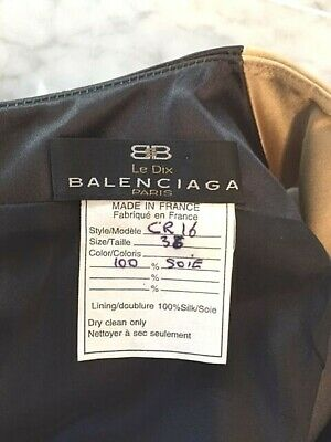 pretty nice sneakers buy best BALENCIAGA VINTAGE SATIN Silk Dress In Gold & Black ...