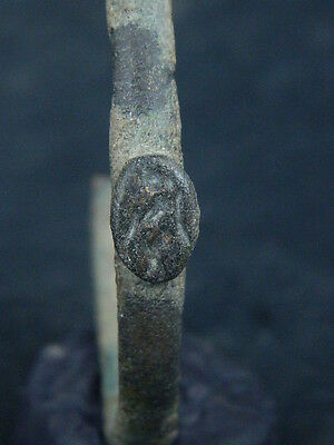 Ancient Bronze Bracelet With Seal Bactrian 300 BC  #SG4755 4
