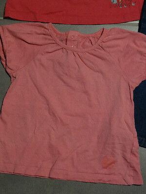 Tenue : jeans bleu poches cœur + 2 t-shirt rose 3 ans / 94 cm KIDKANAï 4