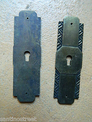 ☀Lot Of 2 Art Deco Keyhole Covers Escutcheons Unused Condition