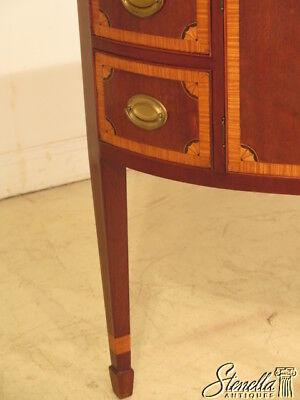 23700E: KITTINGER 1/2 Round Inlaid Mahogany Sideboard w. Satinwood Inlay 6