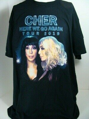 CHER 2019 HERE WE GO AGAIN Concert Tour T-Shirt 2 Sided 2XL 2