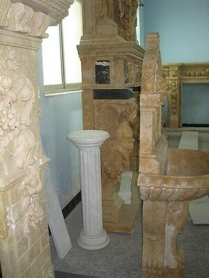 Monumental Hand Carved Figural Estate Fireplace Mantle - Hb32 3