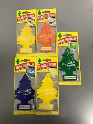 10 x Orginal Wunderbaum Lufterfrischer 5Sorten je 2Stück Hammer Preis 4