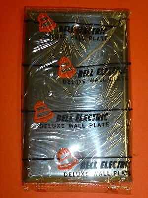 Nos! (3) Bell Electric 1-Gang Chrome Finish Blank Wall Plate 3