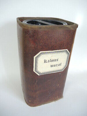 Apothekerdose Pappe Bakelit Aufbewahrung um 1900 2