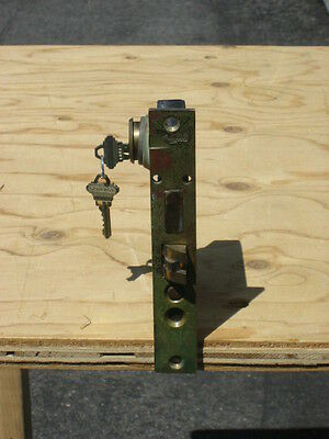 """vintage colewood cast iron mortise lock with key 4 1/2"""" x 6"""" 2"""