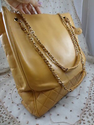 a53201f2e25b ... Authentic VINTAGE JUMBO Chanel GST Neverfull Grand Shopper TOTE Bag  Purse T123 6