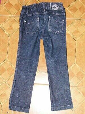 schicke Glitzer Jeanshose Palomino by C&A Hose Größe 110 verstellbare Taille 3