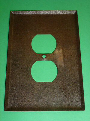 Nos! Bell Electric Single Gang Brown Crackle, Oversized Receptacle Wall Plate 2