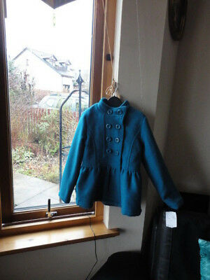Stunning Teal Double Breasted Jacket from ONME, Size 7-8yo,New with tags 7