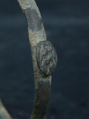 Ancient Bronze Bracelet With Seal Bactrian 300 BC  #SG4755 2