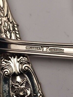Rose Point by Wallace Sterling Silver individual 4 Piece Place Setting 5