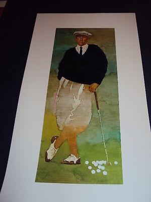 "Bart Forbes golf art print  "" The Golfer "" Vintage Male   SMALLER SIZE PRINT 2"