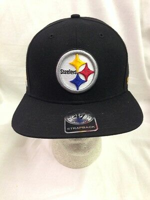 77b936aea84189 ... Pittsburgh Steelers Strapback 47 Brand Super Shot 47 Captain Hat Cap  Adjustable