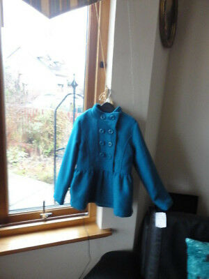 Stunning Teal Double Breasted Jacket from ONME, Size 7-8yo,New with tags 10