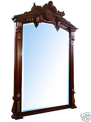 Renaissance Revival Mantel and Over Mirror #4878 2
