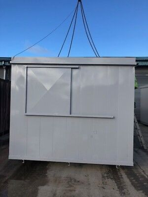 32x10ft steel anti vandal Office toilet kitchen with sliding window shutters