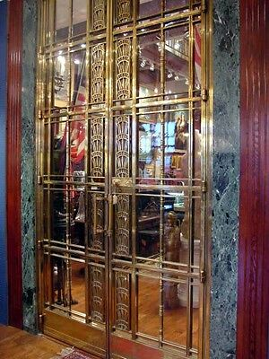 1928 Art Deco American Brass Co. Doors Monumental Architectural Masterpiece 10