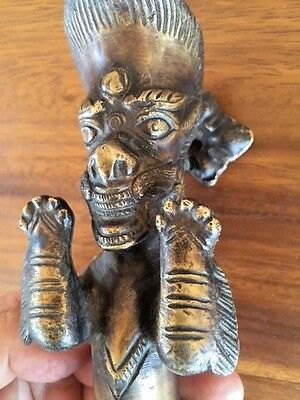 Bronze Dragon Tantric Sculpture Figure Door Handle