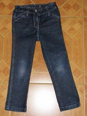 schicke Glitzer Jeanshose Palomino by C&A Hose Größe 110 verstellbare Taille 2