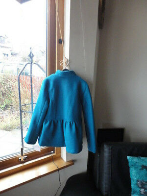 Stunning Teal Double Breasted Jacket from ONME, Size 7-8yo,New with tags 12