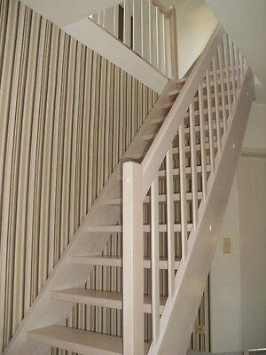 gerade treppe massivolztreppe aus fichte und eiche mit gel nder aus edelstahl eur. Black Bedroom Furniture Sets. Home Design Ideas