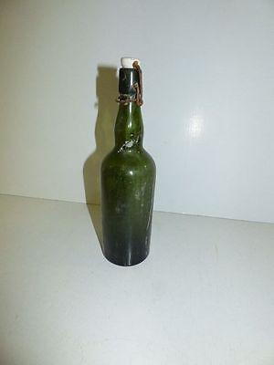 alte Glasflasche Spiritus Brennspiritus ohne Dichtung gr Flasche DEKO Shabby (7) 2