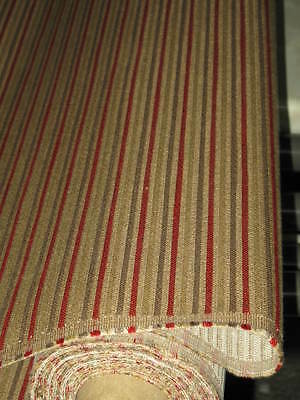 9.8 MT STUNNING RED MUSHROOM BEIGE UPHOLSTERY FABRIC BENCH SEATING armchair B40 3
