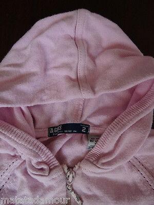 Gilet à capuche rose imprimé dos ZARA GIRLS Taille 2 ans / 24 mois / 86-92cm 2