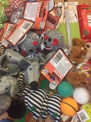 20 X  Bulk Buy Cat Kitten Toys Rod Fur Mice Bells Balls  Catnip BARGAIN JOB LOT 4