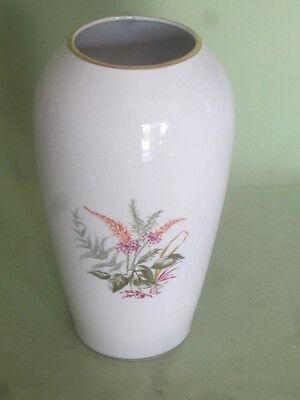 Vase Porzellan OCA Oechsler & Andechser Nora weiß bunte Blume  Ø 9 cm 24 cm hoch