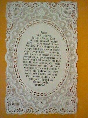 Puntilla Estampita Recordatorio Calado Dorso Frances Antiguo 6
