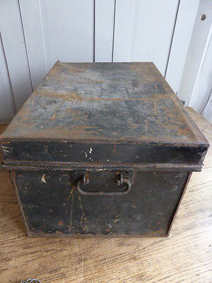 Antique metal deed box by George Hall Fetter Lane London 3