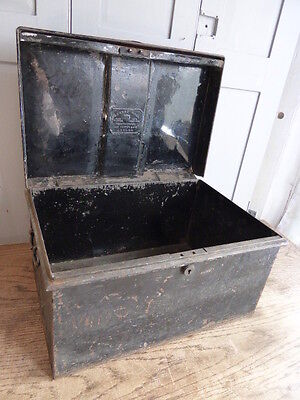 Antique metal deed box by George Hall Fetter Lane London 12