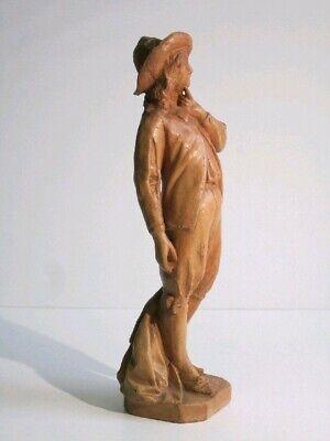 Estatua de Terracota Figura Manzoni Escultura Renzo Altura 46CM 3