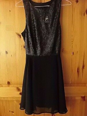 ... competitive price e7b35 a5cc6 1 sur 10 Primark Size 10 Black Dress With Sequins  Bnwt ... e46058663