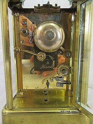 French Alarm Carriage Clock C1880