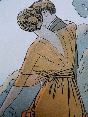 L'heure charmante A. E. Marty  parfum de Rigaud  rare planche publicitaire 1913
